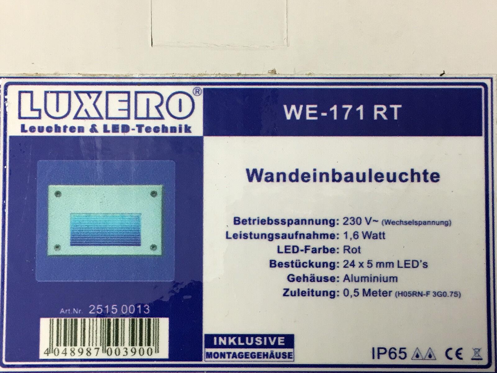 LUXERO AV LED-Wandeinbauleuchte 24 LEDs AC230V  WE-171 RT 25150013 | Creative  | Öffnen Sie das Interesse und die Innovation Ihres Kindes, aber auch die Unschuld von Kindern, kindlich, glücklich  | Angemessener Preis