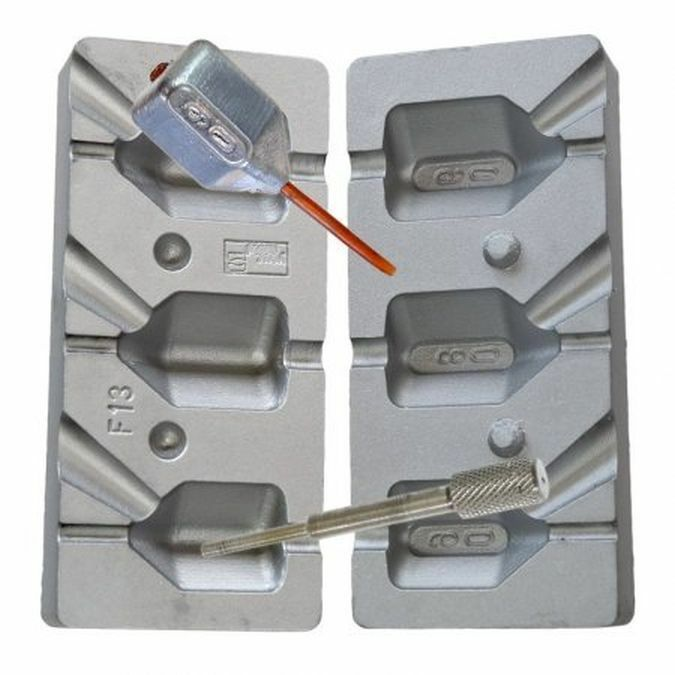 Inline Dump Dice Mould CB13  60 80 90g One  inline spacer rod inc  40% off