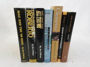 Lot of 7 Books on THE PITTSBURGH PIRATES Robert Clemente Bill Mazeroski More!