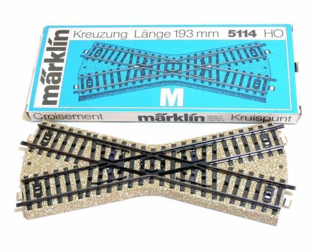 Märklin 5114 Kreuzung M-Gleis Spur H0