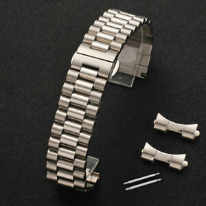 Curved-Stainless-Steel-Metal-Bracelet-Clasp-Replacement-Watch-Band-Strap-12-22mm