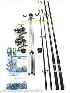 Sea Fishing Beach Pier Rock Kit 2 Rod 2 Reel Tackle