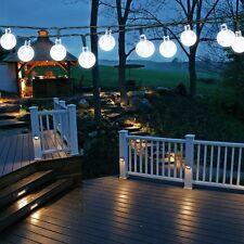 EasyDecor Solar Christmas String Lights 30 LED Ball 21ft Cool White 8Mode Water