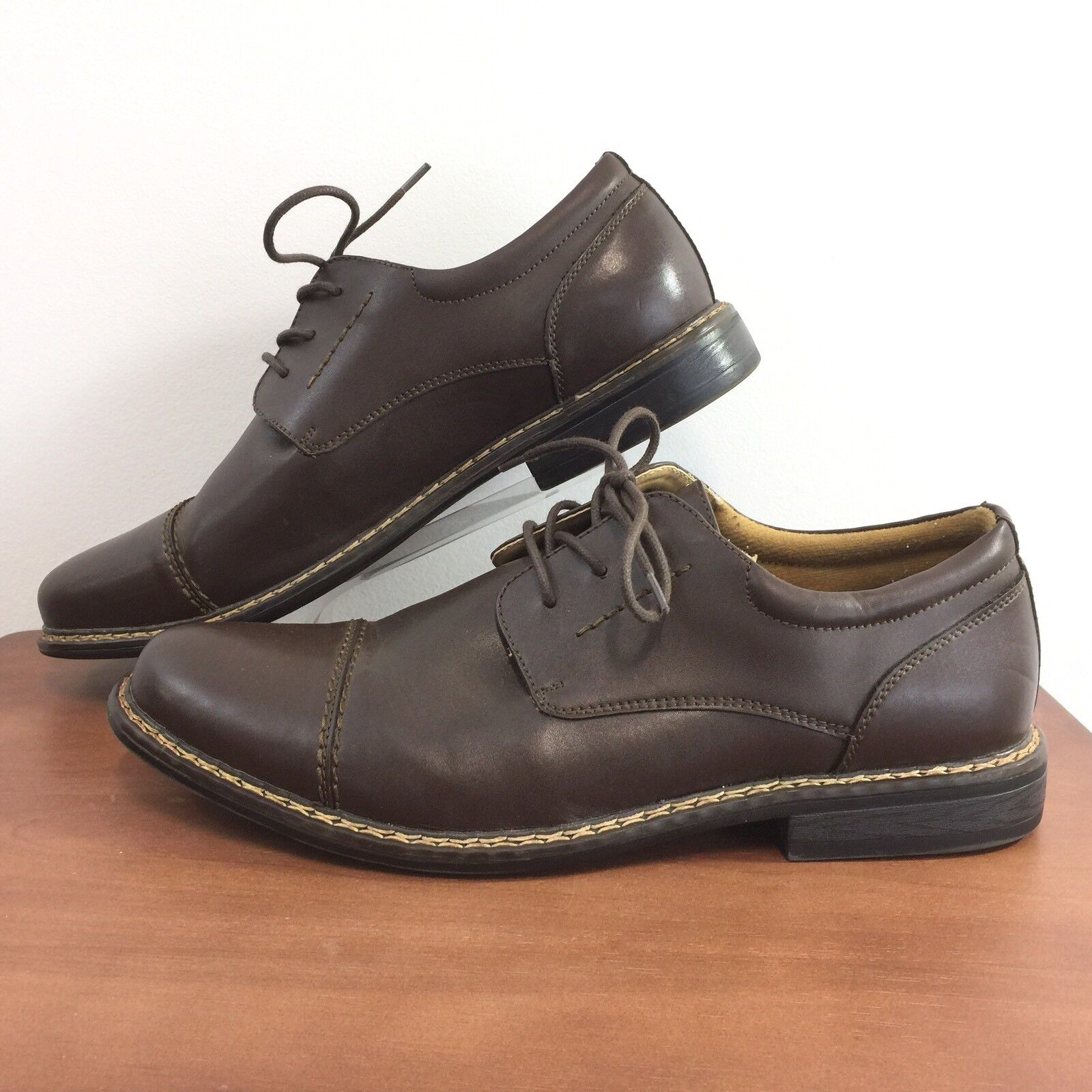 Dr Scholls Brown Leather Cap Toe Oxford Oxford Oxford Shoes Gel
