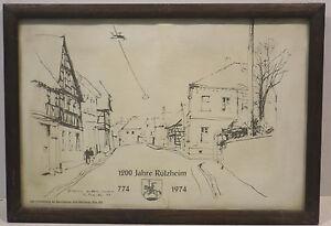 """ 1200 Années Rülzheim De 774 Jusqu'à 1974 "" Grafik. En Cadre"