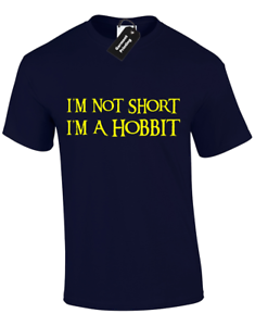 IM NOT SHORT IM A HOBBIT KIDS CHILDRENS T SHIRT NEW FUNNY LORD OF RINGS TOP