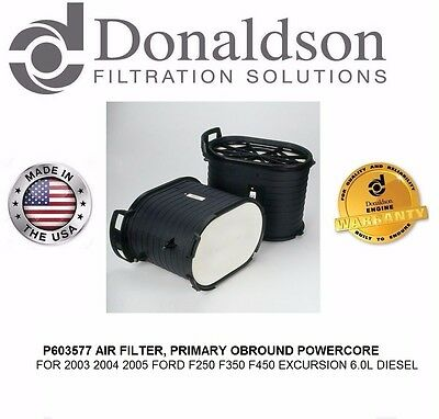 REPLACES FA1746 AIR FILTER P603577 FOR 2003 2004 2005 FORD F250 F350 EXCURSION