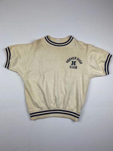 Vtg 50's 60's Champion Short Sleeve Sweatshirt Sz