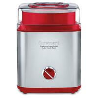 Cuisinart Stainless/Red 2-Quart Automatic Frozen Yogurt Sorbet Ice Cream Maker