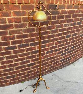 Fine Unusual Authentic Tiffany Studios Floor Lamp Harp