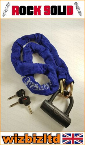 Motorbike Security 1.5 Square Link Chain with 14mm U Disc Lock *SALE* MHLOCBLADE