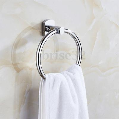 NEW Stainless Steel Round Style Wall-Mounted Towel Ring Holder Hanger Bathroom