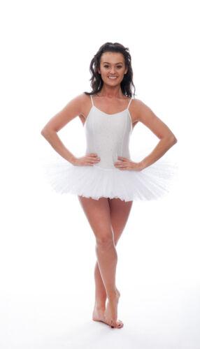 White Sparkly Sequin Dance Ballet Leotard Tutu Childs Ladies Sizes By Katz