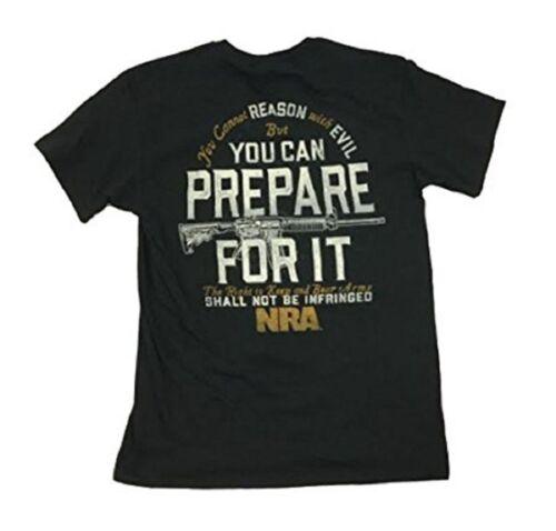 National Rifle NRA Prepare For It Black American Patriotic USA Guns Shirt 7486
