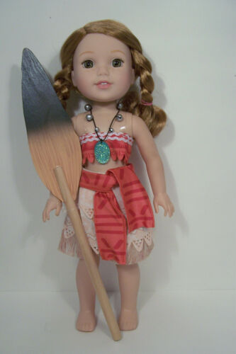"""MOANA Polynesian Princess Doll Clothes For 14/"""" American Girl Wellie Wisher Debs"""