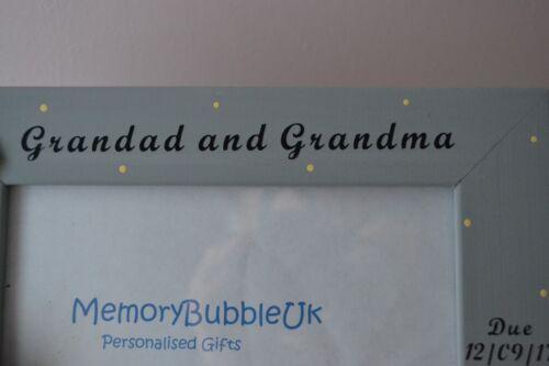 Personnalisé en bois fait main Cadre Photo-Scanner photo-grand-mère et grand-père