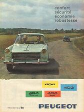 Publicité Advertising 1961  PEUGEOT 404