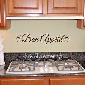 Image Is Loading Bon Appetit Wall Decal Vinyl Lettering Wall Saying