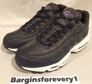 Details about New Nike Air Max 95 PRM (Wool) Size 9 SequoiaLight Carbon 538416 300