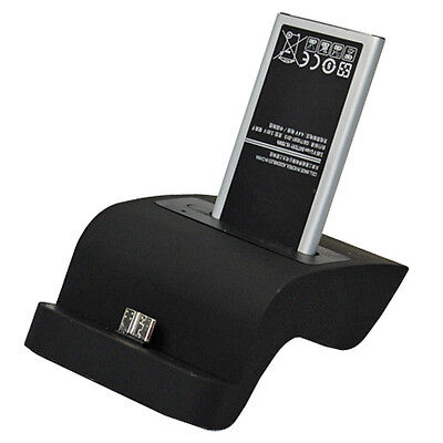 Dual Battery Charger Charging Dock Cradle Station For Samsung Galaxy SV S5 i9600