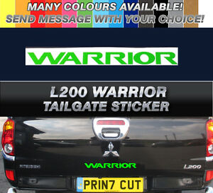 2 x Mitsubishi WARRIOR Replacement Side Decals Stickers COLOUR CHOICE L200