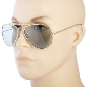 NEW-Aviator-Sunglasses-Hipster-Vintage-Style-Cable-Hook-Temples-Gold-b