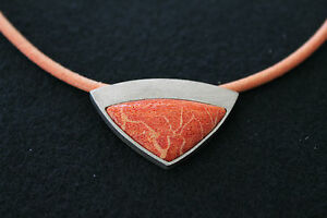 NECKLACE-CORAL-AND-SILVER-RRP-150-100-OFF