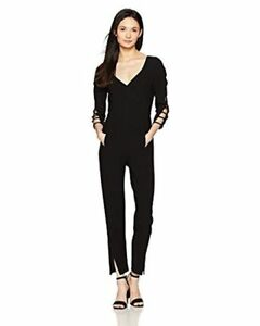 e6df14dd698 Image is loading Black-Halo-Women-039-s-Black-Rizzo-Jumpsuit-