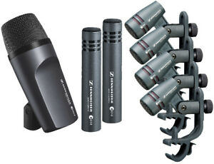 Sennheiser-Drum-Kit-600-e600-Drum-Mic-Package-with-Case-e602-e604-e614-Free-Ship