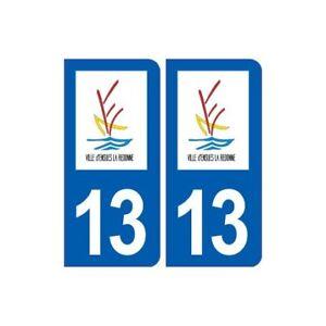 13 Ensuès La Redonne Logo Ville Autocollant Plaque Sticker - Angles : Arrondis Prix Raisonnable