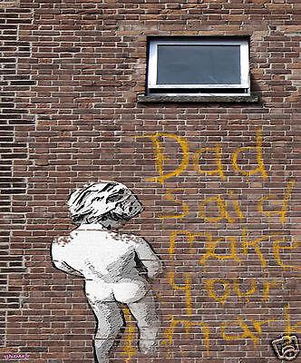 A0  Limited street art print photo Poster painting graffiti  banksy andy baker