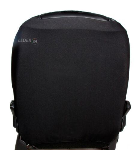Dacia Sandero 2012-18 Maßgefertigt Maß Sitzbezüge Schonbezüge Kunstleder schwarz
