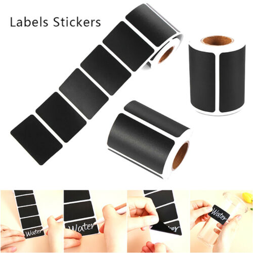120pcs Waterproof Chalkboard Kitchen Spice Label Stickers Jam Jar Bottle Tags UK