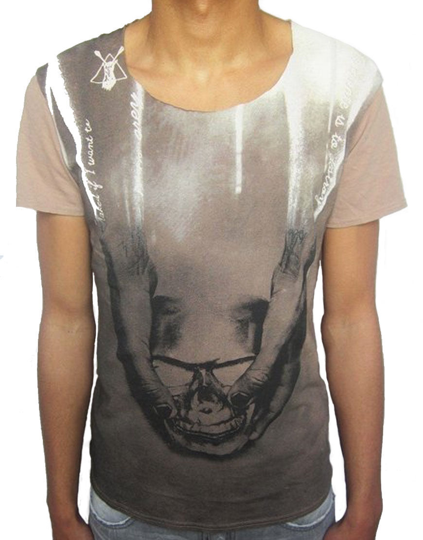 Pearly King che T-Shirt Grigio Talpa (PACCH 029)