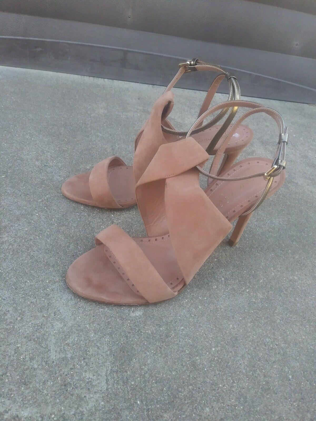 Jean Michel Cazabat Olga Twist bluesh Suede Sandals Heels Size 36