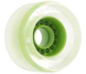 Landyachtz Clear Zombie Hawgs 76mm 78a Pro Longboard Wheels Set of 4 Green Core