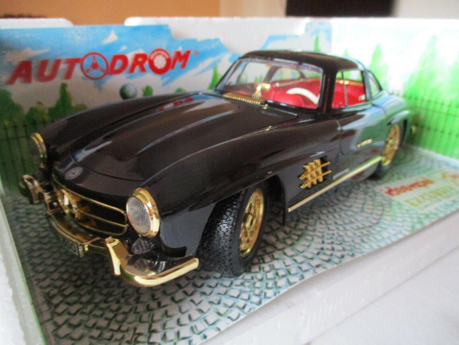 Burago 1 18 Mercedes 300 SL (1954) 3015 Die-Cast Model Car Boxed Black gold