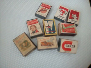 Vintage-Matchbox-Lot-9-boxes-inc-Greenlites-boxes-all-complete