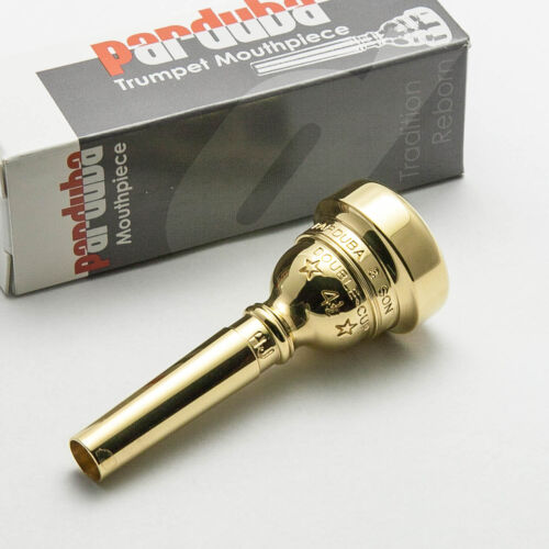 Parduba 24K Gold Double Cup Flugelhorn Mouthpiece Small Morse//Bach Taper 4.5