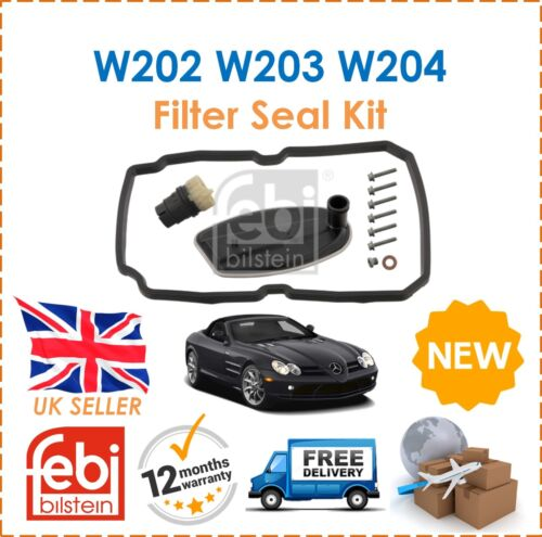 For Mercedes W202 W203 W204 S210 Automatic Gearbox Transmission Filter Seal Kit