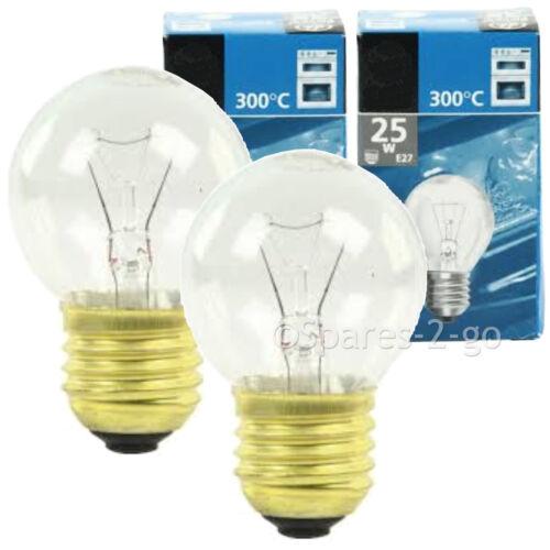 E27 es 25W lampe ampoule pour poêles four cuisinière pack de 2