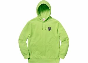 0b8f158563a2 Image is loading Supreme-Lacoste-Hooded-Sweatshirt-Pilea-Green-Large-Hoodie-