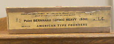 Nos Atf 12pt Bernhard Gothic Heavy Lower Case Letterpress Type Vintage Sealed