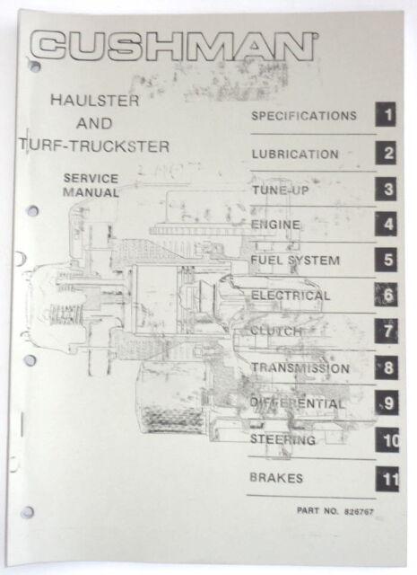 Service Manual For Cushman Haulster Turf N