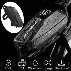 Bicycle-Front-Frame-Waterproof-Bag-Cycling-Bike-Tube-Pouch-Holder-Saddle-Pannier
