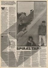 2/9/89Pgn19 Article & Picture 'spiral Tap' Porn-crazed Loudmouth Inspiral Carpet