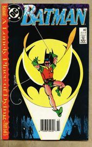 Batman-442-1989-vf-8-0-Newsstand-Variant-Cover-Tim-Drake-Robin-1st-time-costume