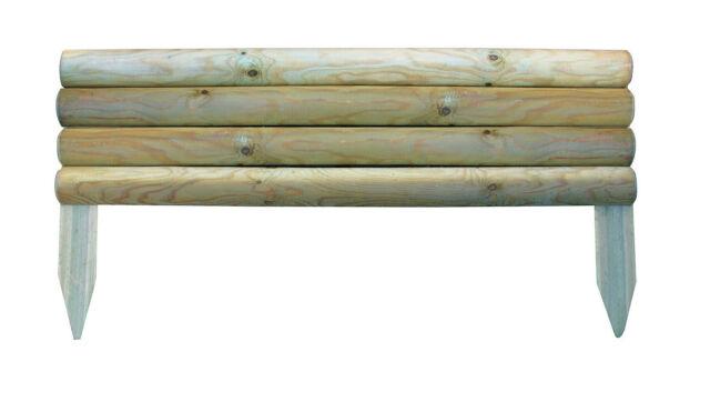 Garden Border Board Lawn Edging 3 x 21cm high Horizontal Wooden Log Panels