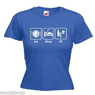 PC Computer Technician Ladies Lady Fit T Shirt 13 Colours Size 6-16