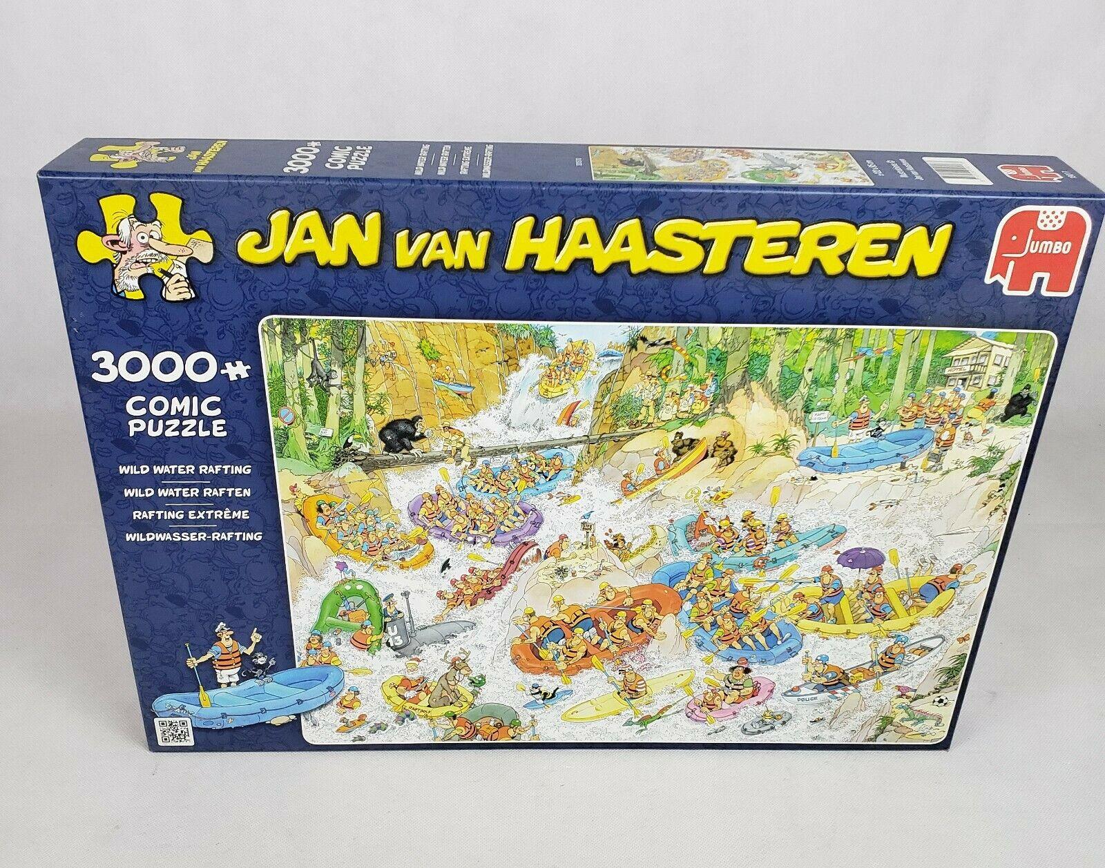 Jumbo 19017 Jan van Haasteren Wildwasser-Rafting 3000 Teile Puzzle Comic
